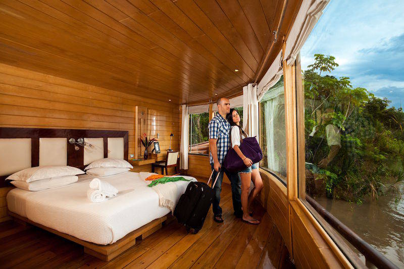 Master Suite of the Delfin II Amazon River Cruise