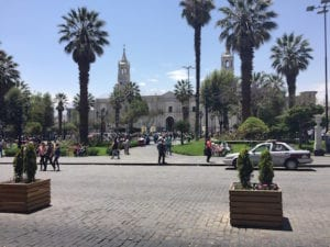 Arequipa, White City, is Made of White Volcanic Rock