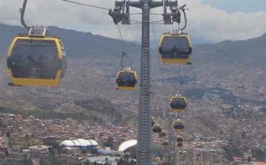 Sky Lift in Bolivia Yellow LIne-min